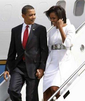 Obamas in white